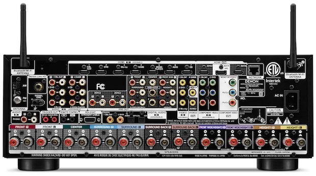 Denon AVR-X5200W A/V Receiver Rear