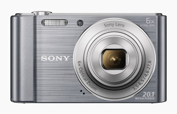 Sony Cyber-shot DSC-W810 Digital Camera - Silver Front