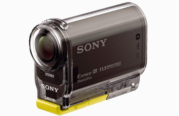 Sony HDR-AS20 Action Cam in case