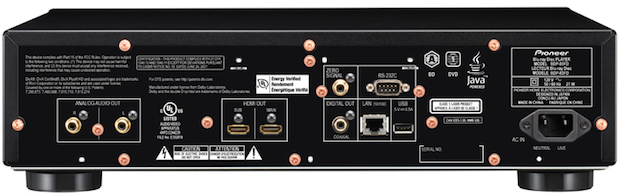 Pioneer Elite BDP-85FD Blu-ray Player Back