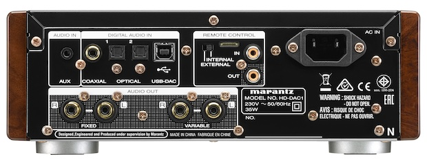 Marantz HD-DAC1 Headphone Amplifier Back
