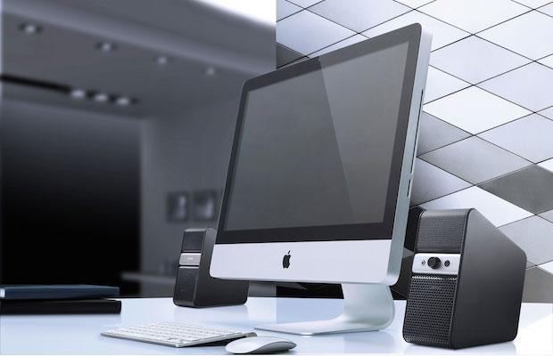 Yamaha NX-B55 Speakers with iMac