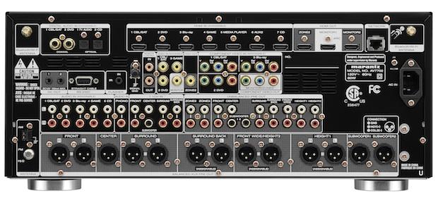 Marantz AV7702 Dolby Atmos A/V Preamplifier Back
