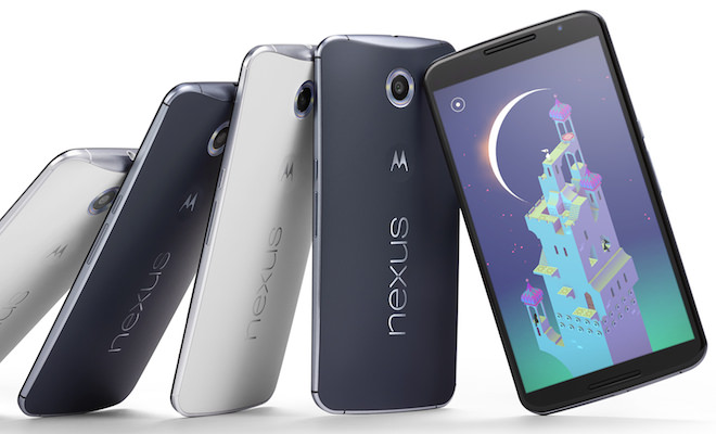 Google Nexus 6 Smartphones in Blue and White
