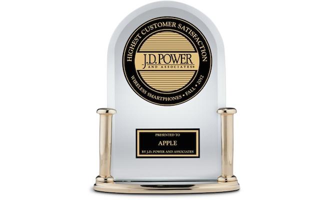 JD Power Apple Award