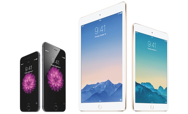 Apple 2014 iPhones and iPads