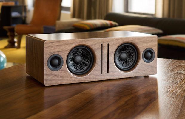 Audioengine B2 Bluetooth Speaker on table