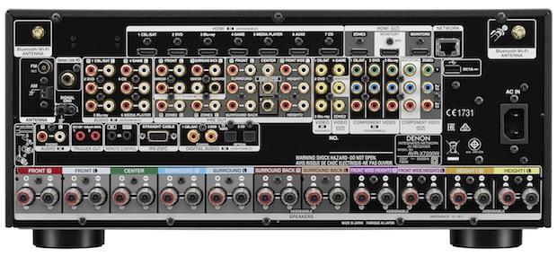 Denon AVR-X7200W back