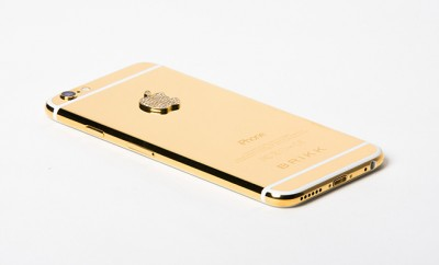 Brikk Lux IPhone 6 24k Gold with Diamonds Secure