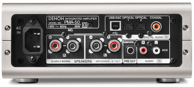 Denon PMA-50 back