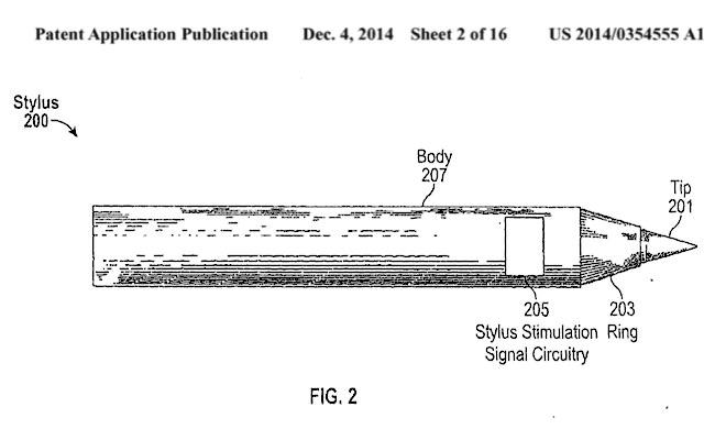 Apple Patent Stylus 200