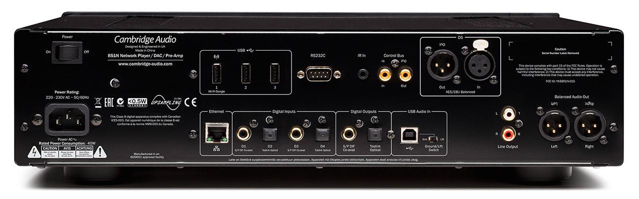 Cambridge Audio Azur 851N Network Music Player Back