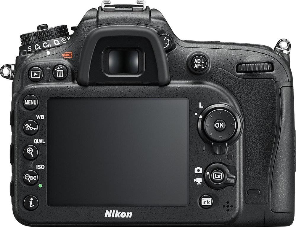 Nikon D7200 Back View
