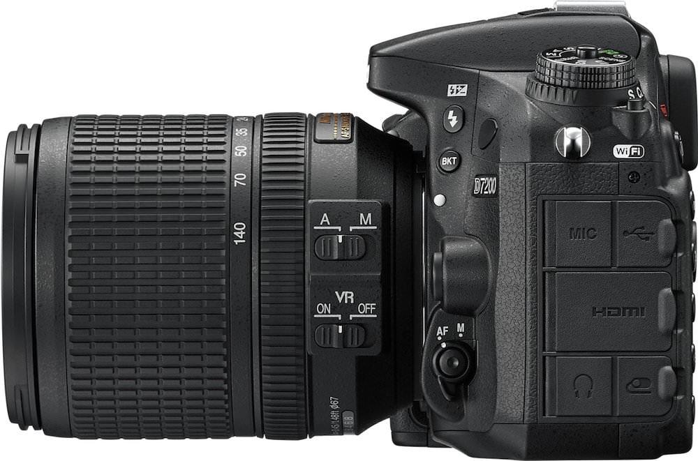 Nikon D7200 Left Side