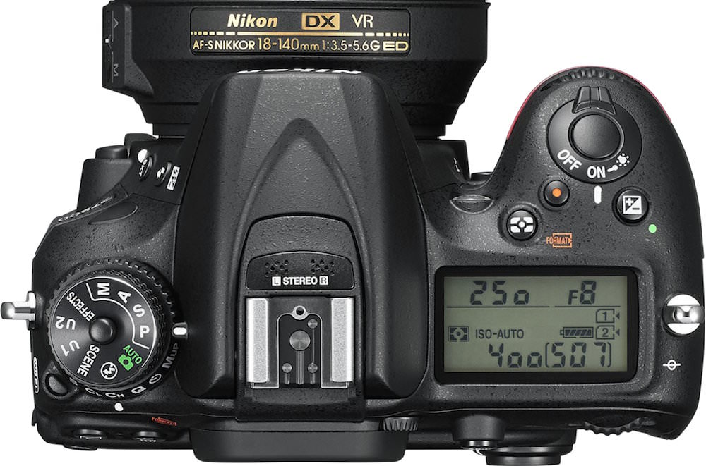 Nikon D7200 Top View