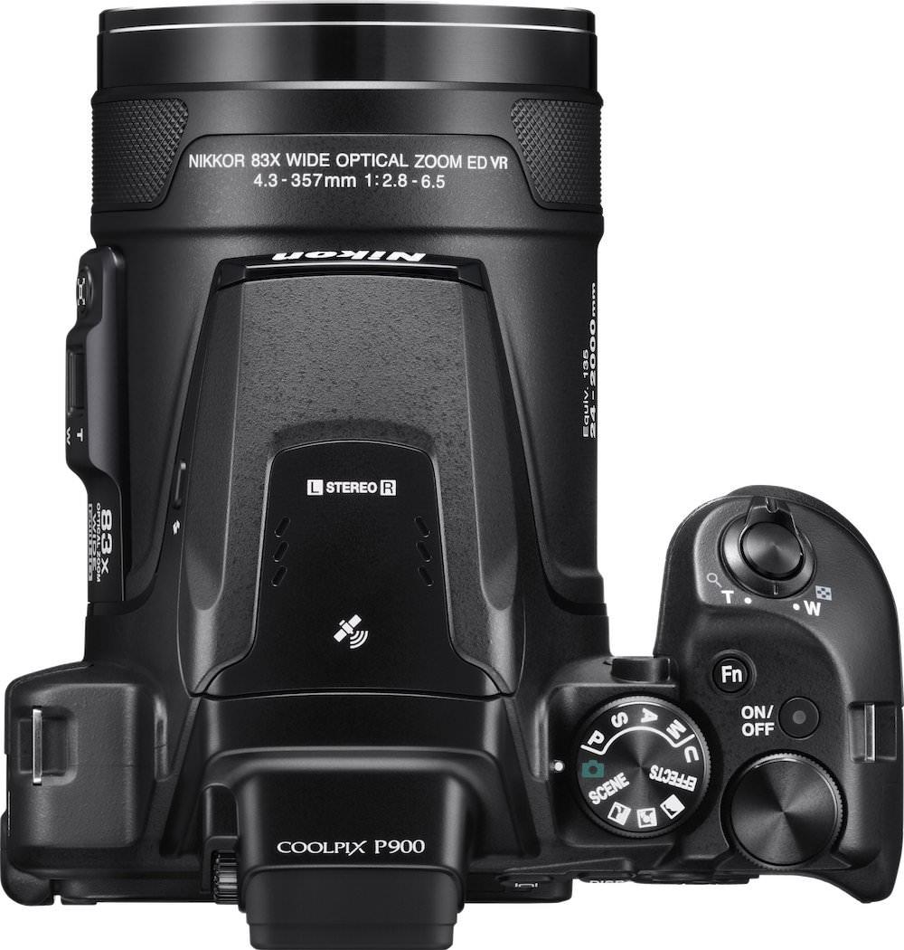 Nikon COOLPIX P900 Top View