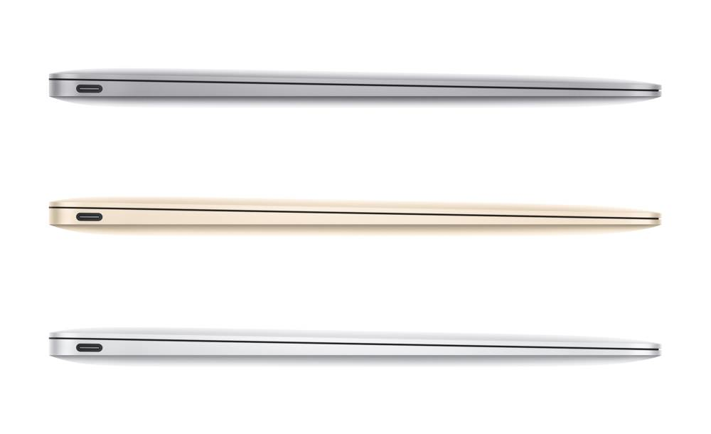 Apple MacBook 2015 Sides and Colors
