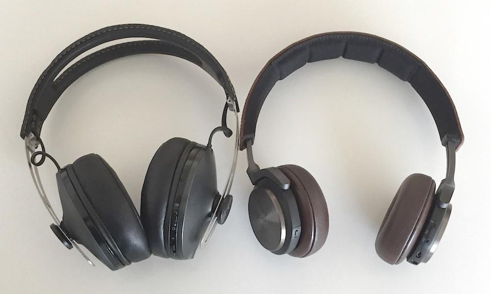 Bang & Olufsen BeoPlay H8 vs. Sennheiser Momentum Wireless Headphone Sides
