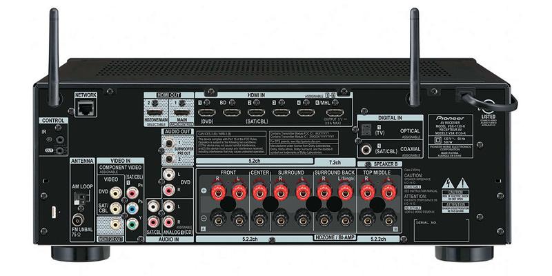 Pioneer VSX-1130 A/V Receiver Back