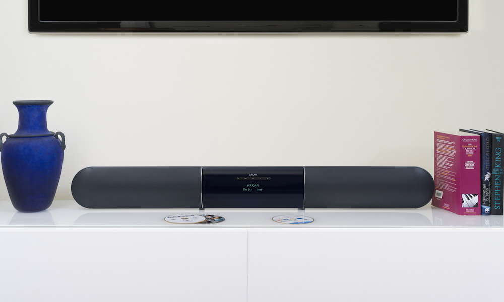 Arcam Solo bar on table