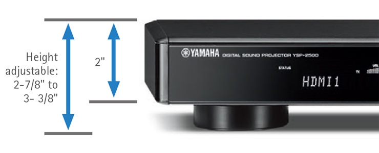 Yamaha YSP-2500 Sound Bar Height