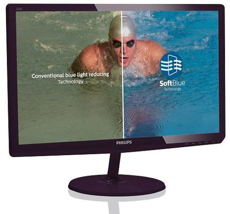 Philips 247E6BDAD SoftBlue Monitor