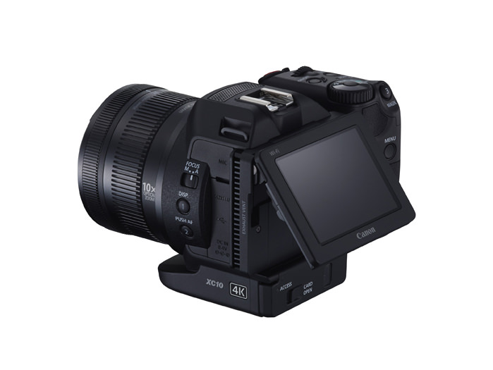 Canon XC10 4K Digital Camcorder Back Screen