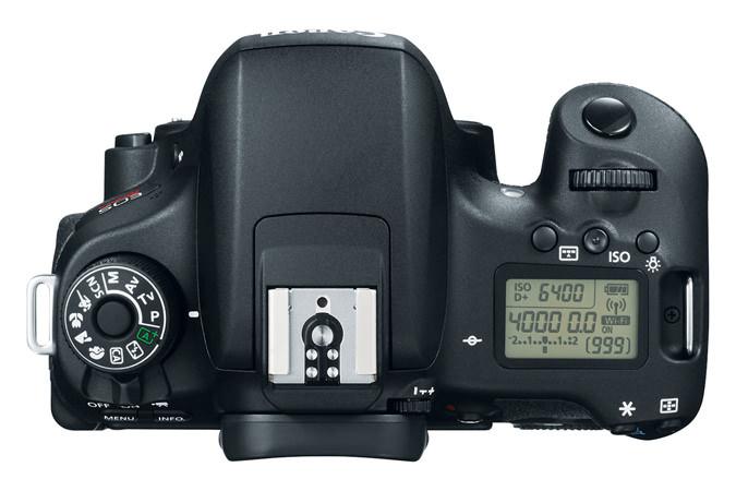 Canon EOS Rebel T6s Top