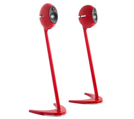 Edifier e25HD Wireless Speakers on Stands