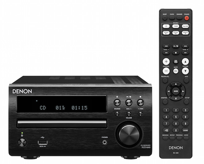 Denon RCD-M40 CD Receiver with Remote Control