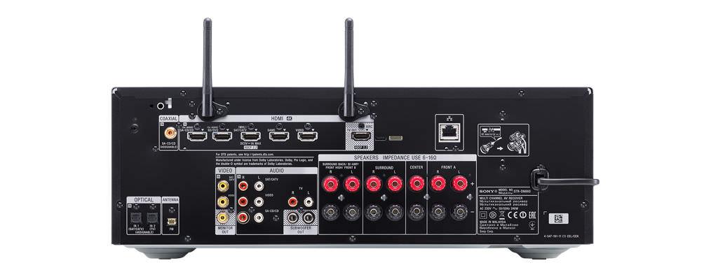 Sony STR-DN860 A/V Receiver Back