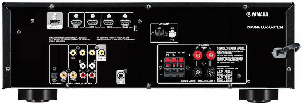 Yamaha RX-V379 A/V Receiver Back