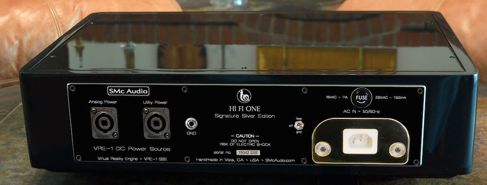 SMc Audio HI Fi One Silver Signature Edition line stage back