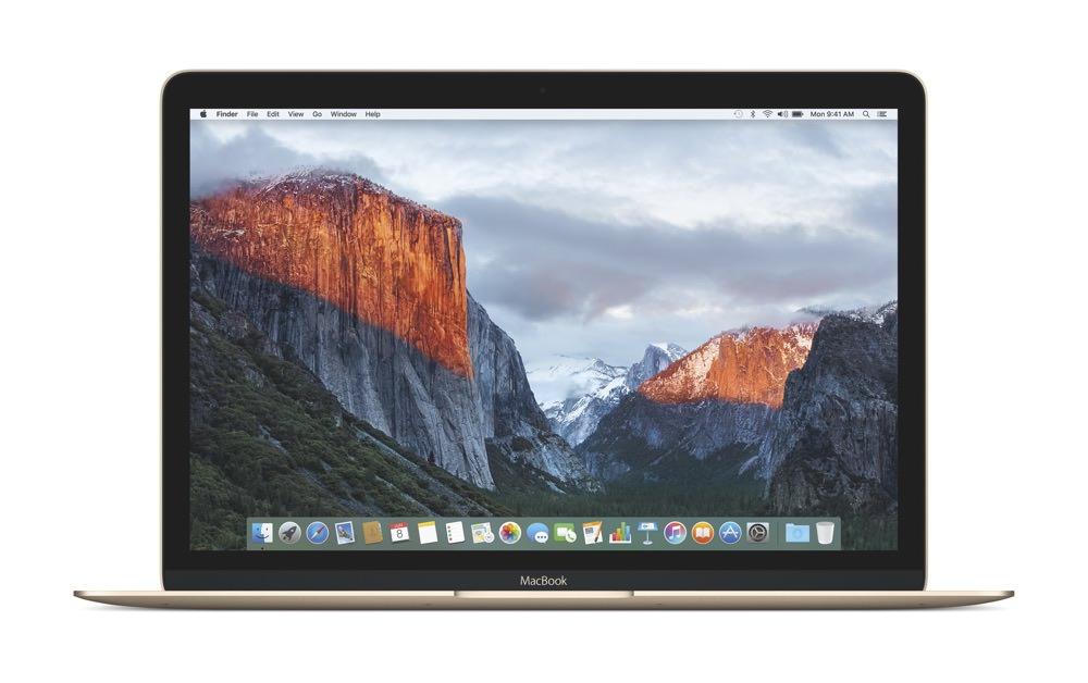 Apple MacBook El Capitan Homescreen