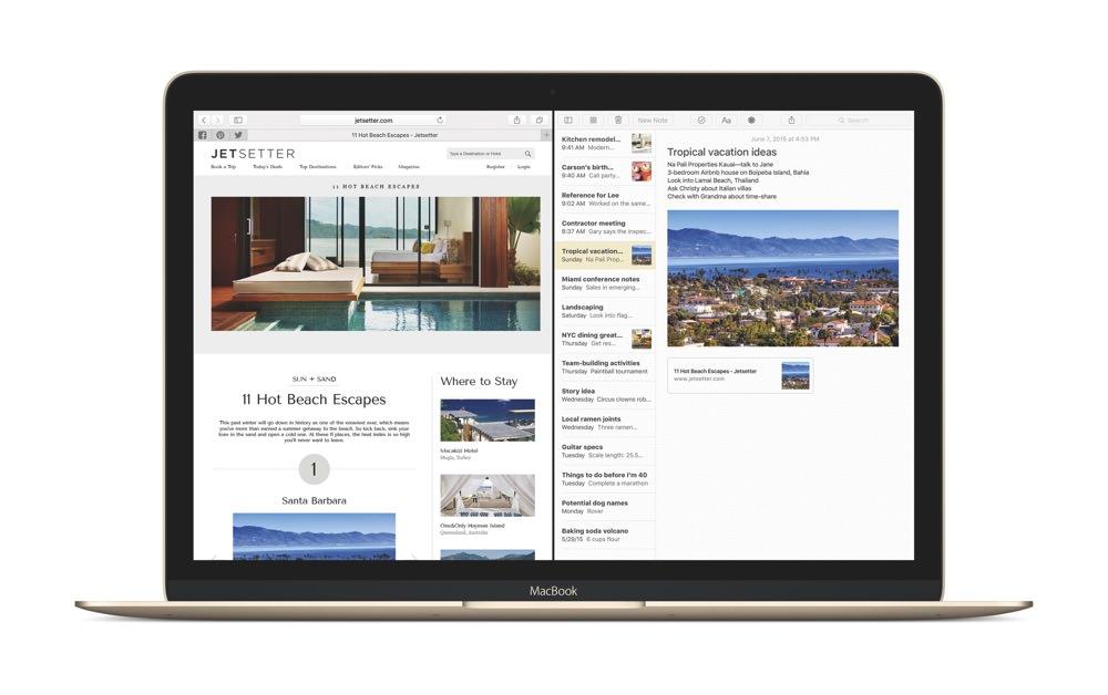 MacBook El Capitan Safari Notes