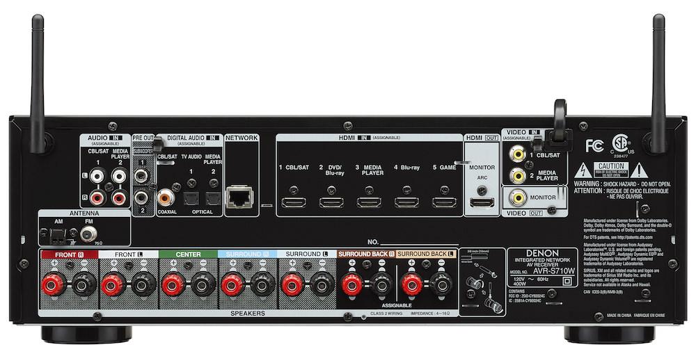 Denon AVR-S710W Rear
