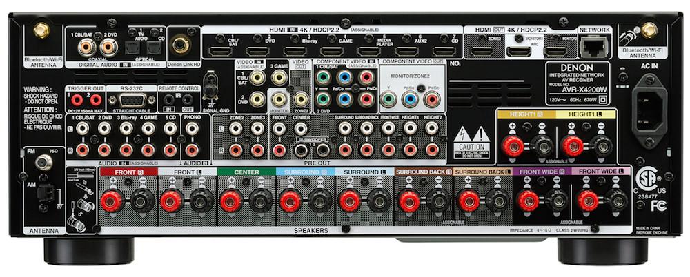 Denon AVR-X4200W Rear