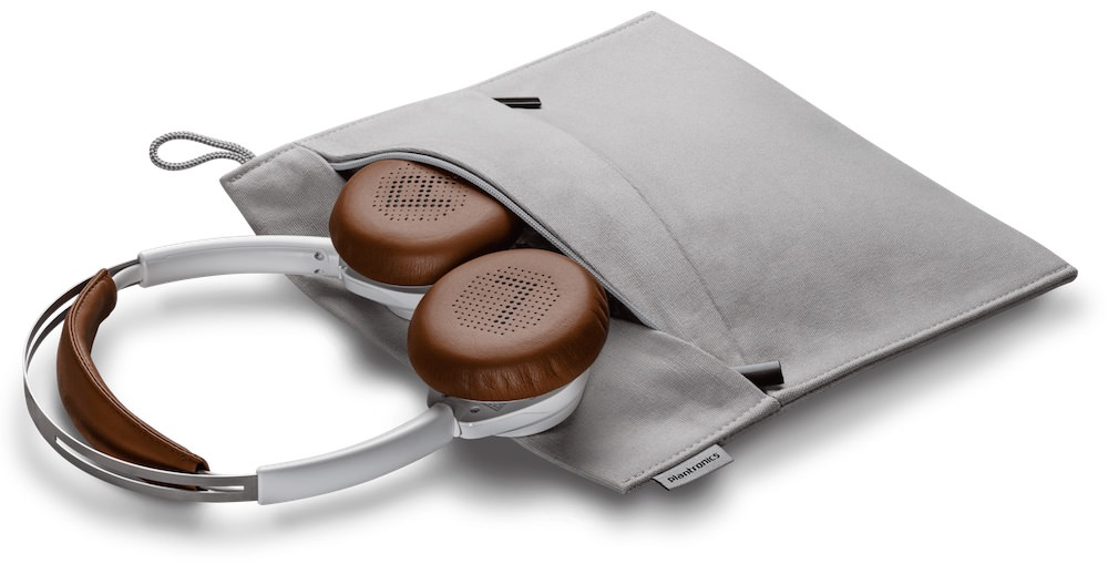 Plantronics BackBeat SENSE Wireless Headphones in case