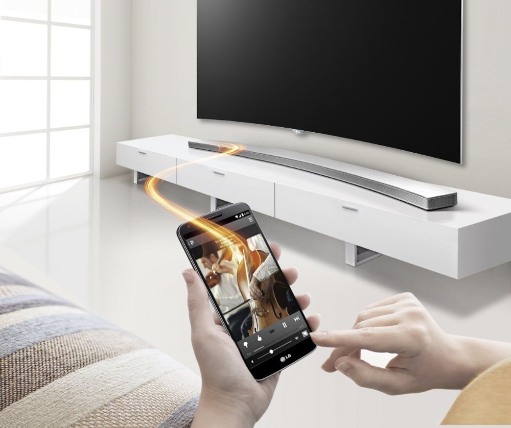 LAS855M Curved Sound Bar