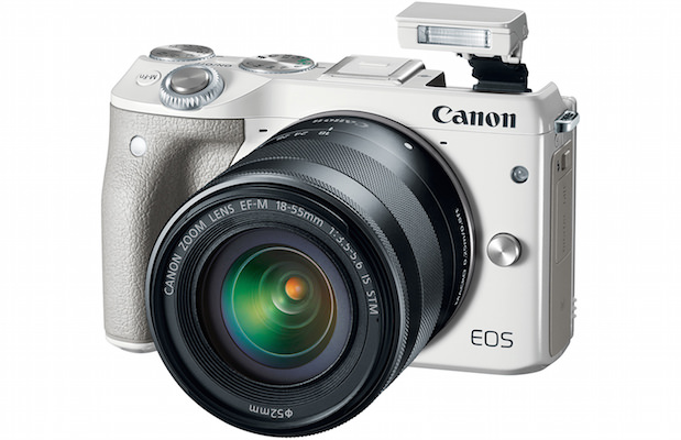 Canon EOS M3 Digital Camera White with Flash