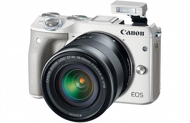 Canon EOS M3 Digital Camera White with Flash