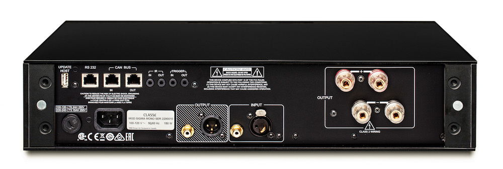 Classe Sigma MONO Amplifier - Back