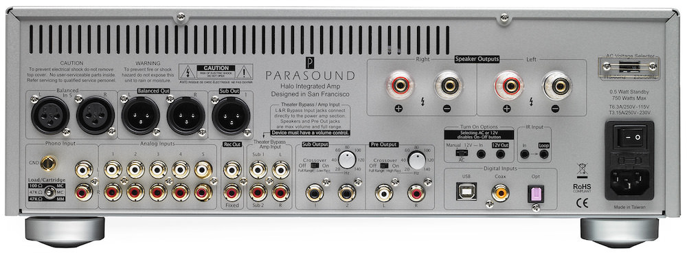 Parasound Halo Integrated Amplifier - Back
