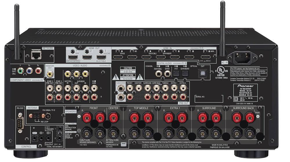 Pioneer Elite SC-95 A/V Receiver - Back