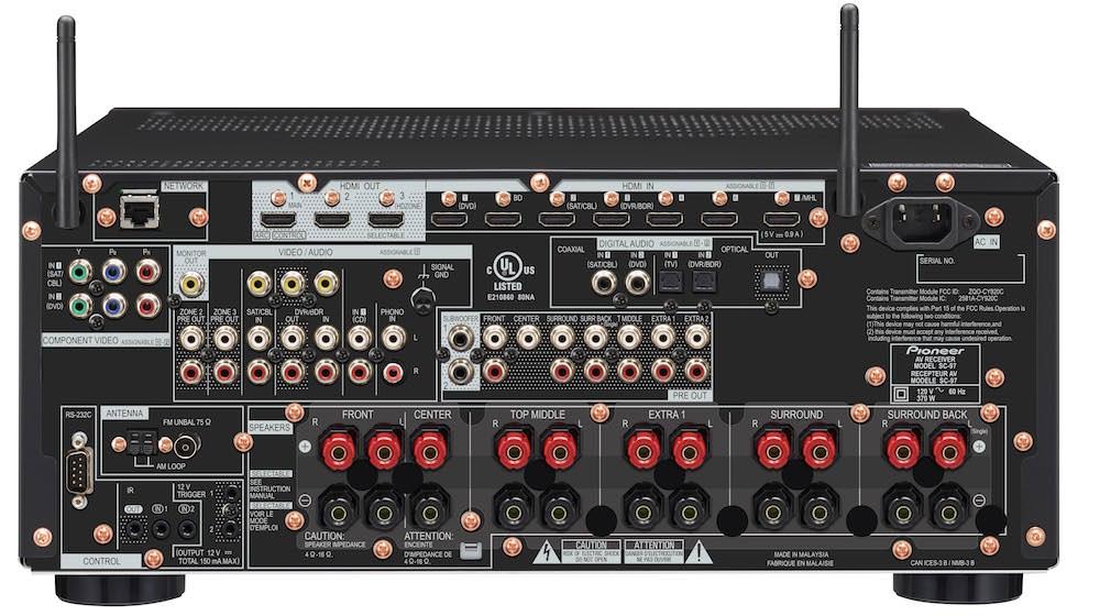 Pioneer Elite SC-97 A/V Receiver - Back