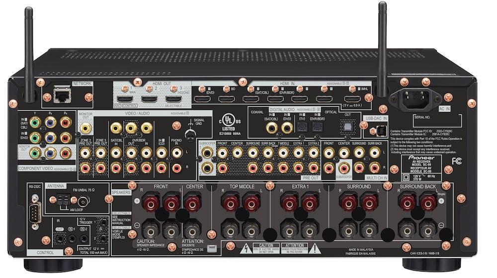 Pioneer Elite SC-99 A/V Receiver - Back