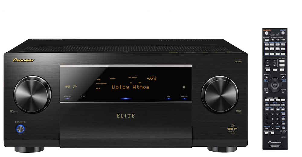 Pioneer Elite SC-99 A/V Receiver - Front with Remote