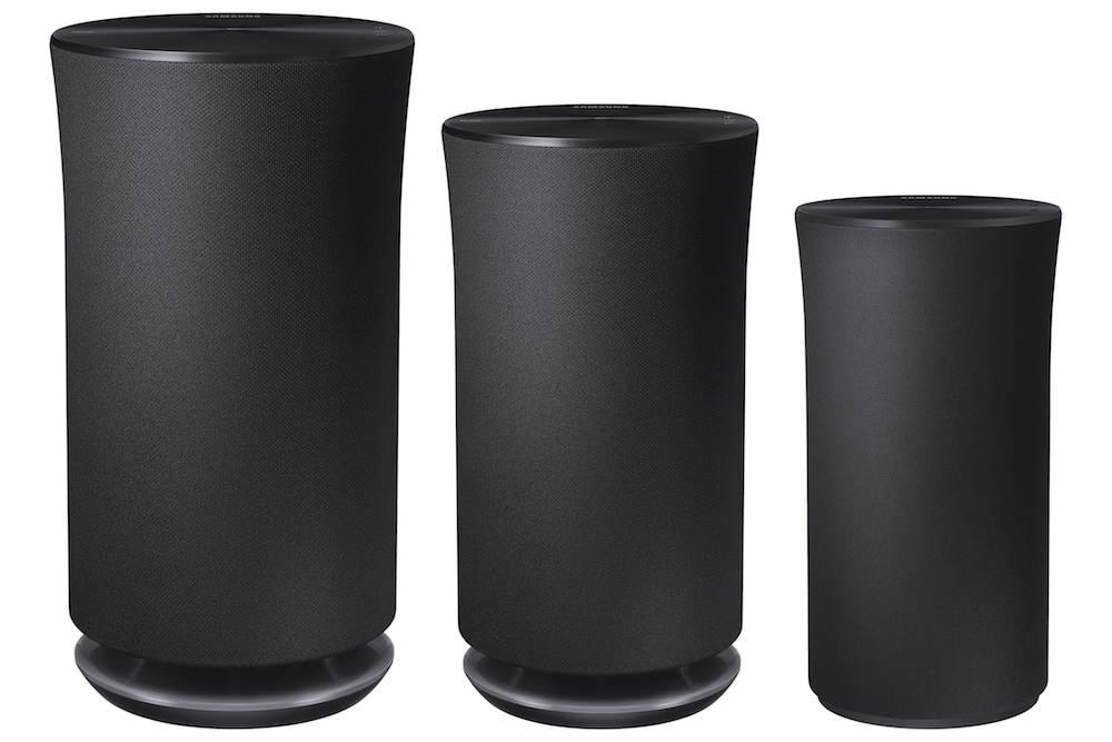 Samsung Radiant360 R5, R3, R1 Wireless Speaker (left to right)