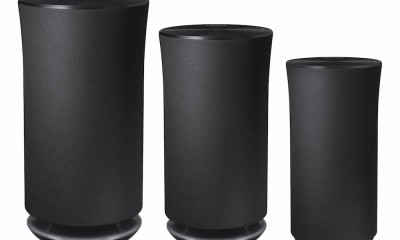Samsung Radiant360 R5, R3, R1 Wireless Speaker (left to right)