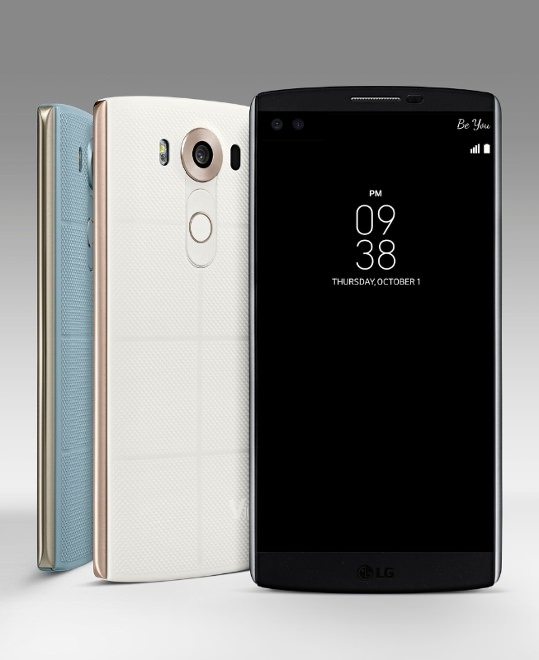 LG V10 Smartphone - Front and Back